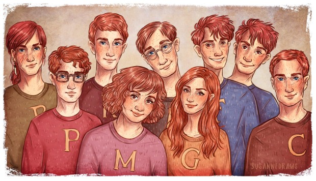 weasley family_susannedraws