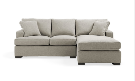 DUNE 95 UPHOLSTERED TWO PIECE SECTIONAL IN THEATER GUNSMOKE