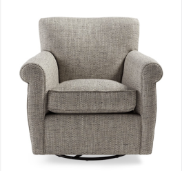 DUVALL 35 UPHOLSTERED SWIVEL GLIDER IN SEDARIS DOLPHIN